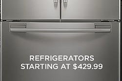 Refrigerators starting at $429.99