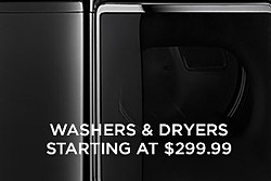 Washers & dryers starting at $299.99