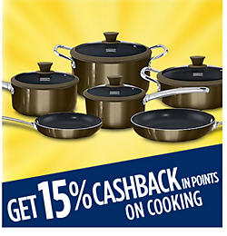 Get 15% CASHBACK in points on cooking