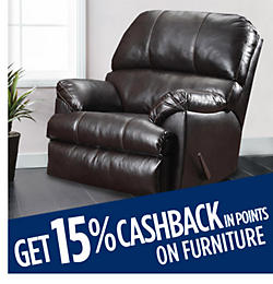 Get 15% CASHBACK in points on furniture
