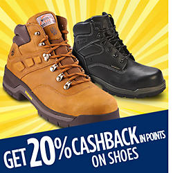 Get 20% CASHBACK in points on shoes