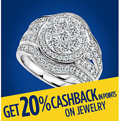 Get 20% CASHBACK in points on jewelry