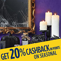 Get 20% CASHBACK in points on seasonal