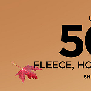 Up to 50% off fleece, hoodies, & more