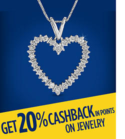 Get 20% CASHBACK in points on fine jewelry