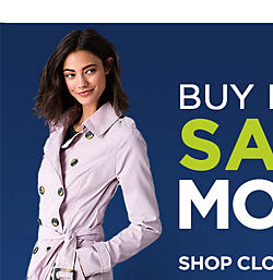 Buy More, Save More. Extra 30% off $100+, 25% off $75+, or 15% off $50+ on clothing and shoes  |  shop clothing