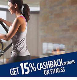 Get 15% CASHBACK on fitness