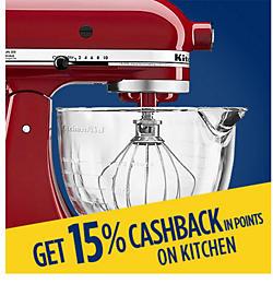 Get 15% CASHBACK in points on kitchen