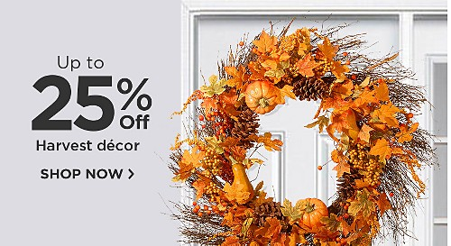 Up to 25% off Harvest Decor