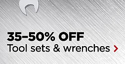 UP TO 50% OFF HUNDREDS OF TOOLS | SHOP ALL | TOOL MEGA SALE & VALUES | 35–50% Off Tool sets & wrenches