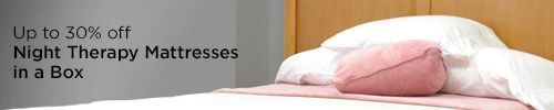 Up to 30% off Night Therapy mattresses