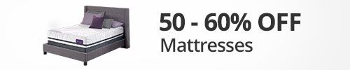 50-60% off mattresses