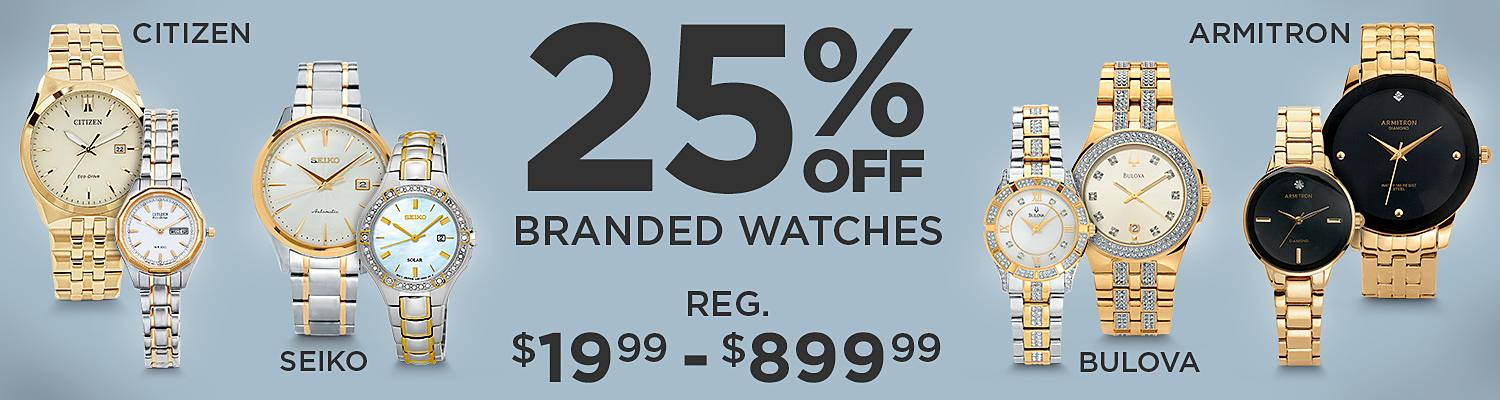 20% Off Top Watch Brands