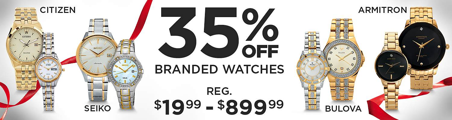 Up to 35% Off Top Brand Watches