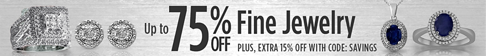 Up to 75% off in fine jewelry + extra 15% off with code SAVINGS