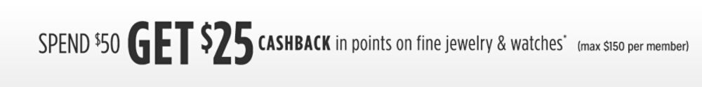 Spend $50 Get $25 CASHBACK in Points