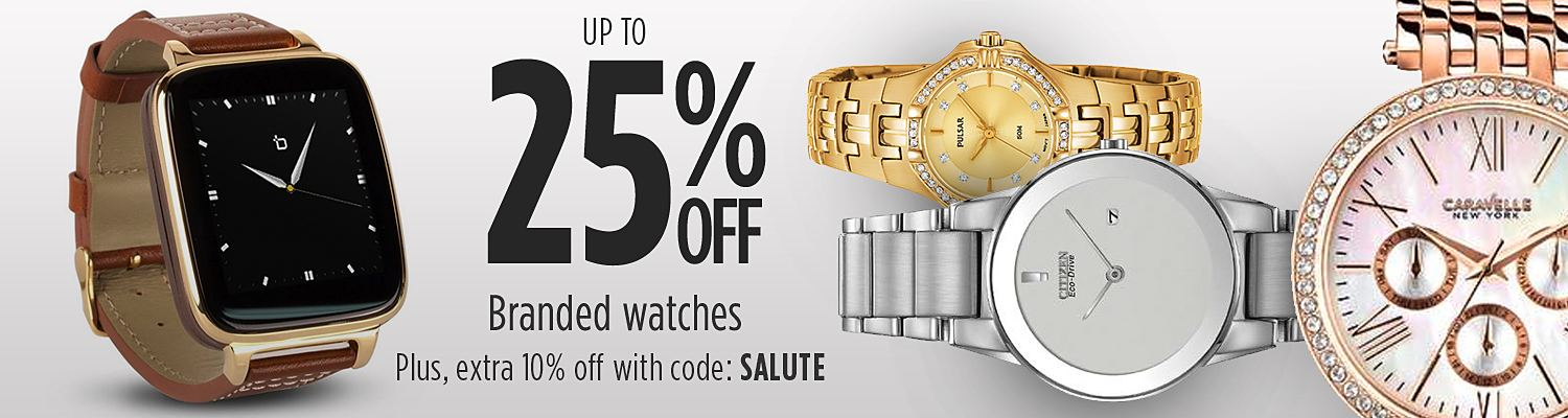 Up to 25% off watches