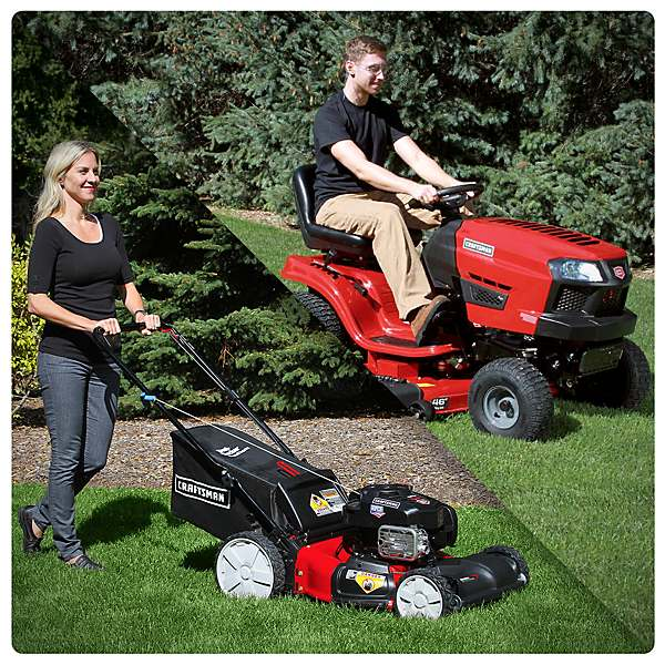 Sears Push Mowers vs. Riding Mowers