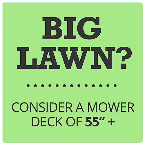 55 in. Deck Width or More