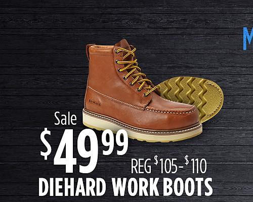 Sale $49.99 DieHard Work Boots