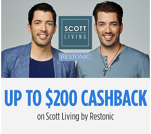 Up to $200 Cashback on Scott Living by Restonic