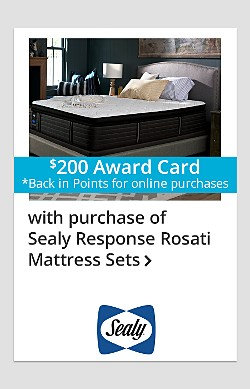 $200 back in points on Sealy Response Rosati Mattress Sets