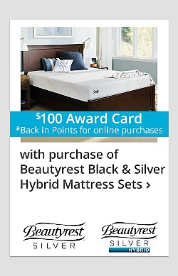 $100 back in points on Beautyrest Black & Silver Hybrid Mattress Sets