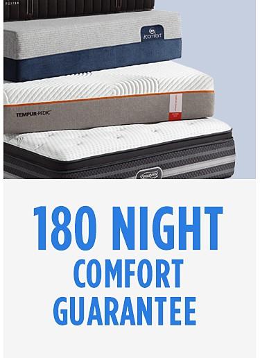 180 night comfort guarantee