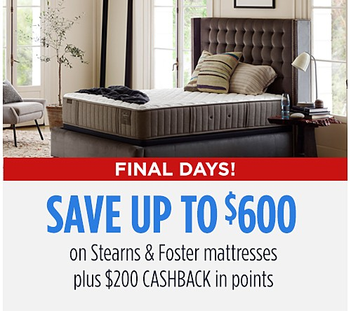 Save up to $600 on Sterns & Foster mattresses