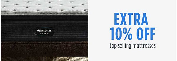 Extra 10% off top selling mattresses