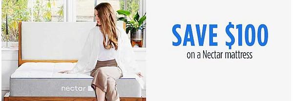 Save $100 on a Nectar mattress