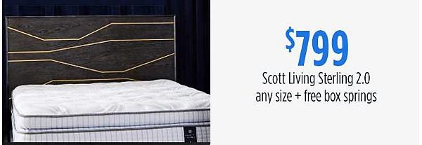 $349 Sealy Response Kenney firm queen mattress & box spring