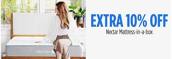 Extra 10% off Nectar Mattress-in-a-box
