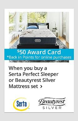When you buy a Serta Perfect Sleeper or Beautyrest Silver Mattress set