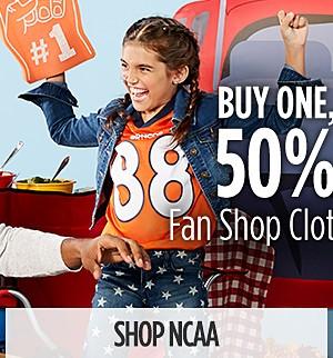 Buy one, get one 50% off NCAA Clothing & Merchandise