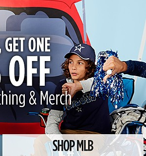 Buy one, get one 50% off MLB Clothing & Merchandise