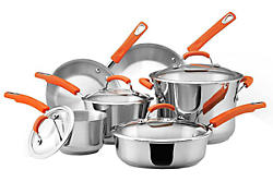 Rachael Ray Stainless Steel Cookware 10-Piece Set