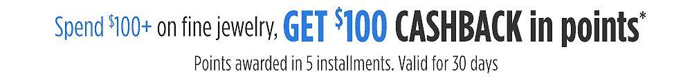 Spend $100+ online, get $100 CASHBACK in points*