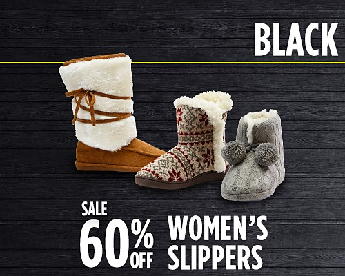Up to 60% off women's slippers