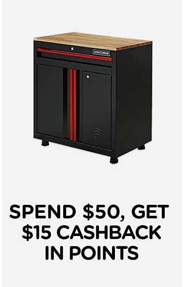 Spend $50, get $15 CASHBACK in points