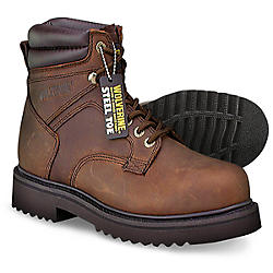 "Wolverine Men's 6"" Steel Toe Work Boots"
