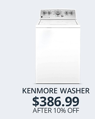 Kenmore front Load Washer&#x3b; $386.99 after 10% off