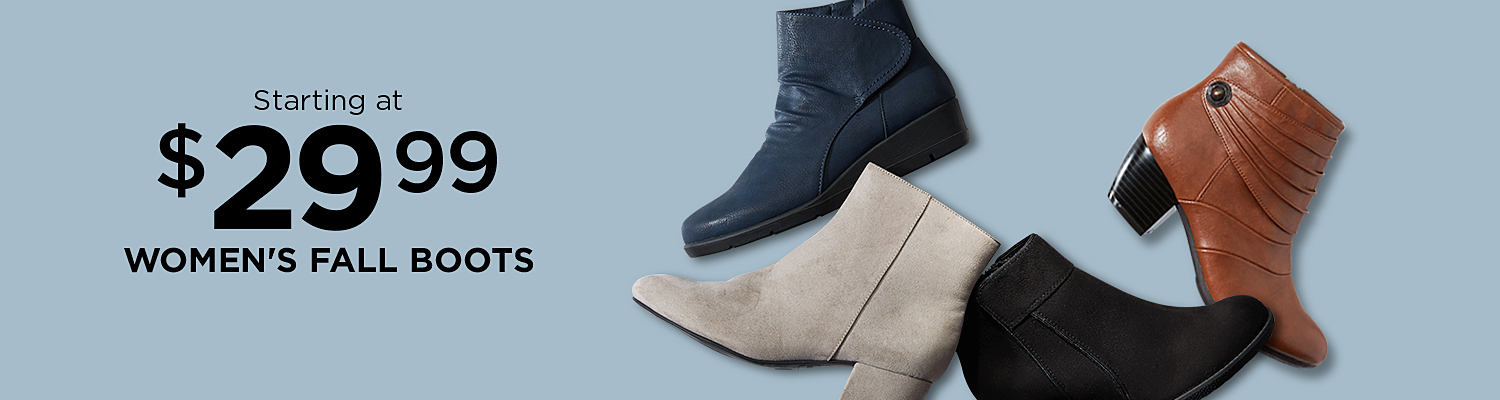 Starting at $29.99 women's boots
