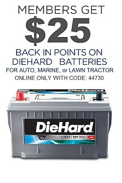 DieHard Batteries - Get $25 Back in points with code:
