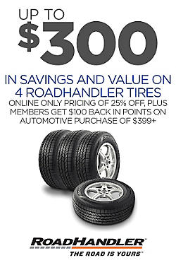 Up to $300 savings & value on 4 RoadHandler