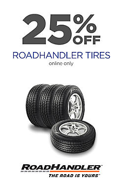 25% off RoadHandler Tires