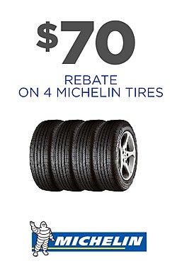 Up to $70 rebate on Michelin Tires
