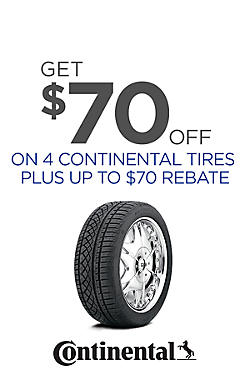 Up to $140 Value on Continental Tires