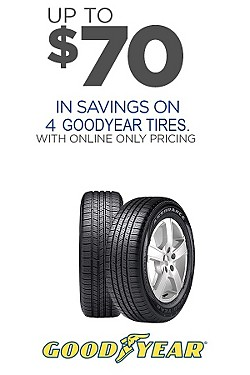 Goodyear - Up to $70 off on 4