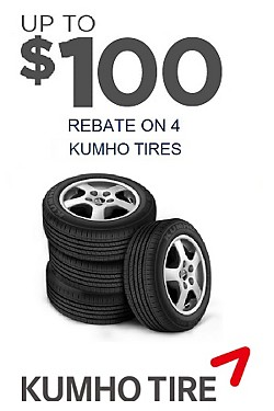 Up to $100 Rebate on 4 Kumho Tires